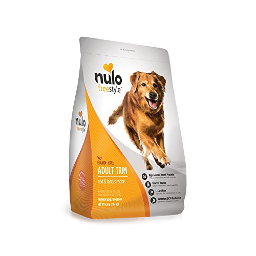 Nulo Grain Free Healthy Weight Dry Dog Food with BC30 Probiotic (Cod and Lentils Recipe, 4.5lb Bag) For Sale