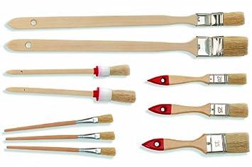 Maler und lackierer pinsel  Maler Pinsel Heimwerker Set 10 teilig - 2 Eckenpinsel - 2 ...
