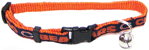 (NFL CAT COLLAR. - CHICAGO BEARS CAT COLLAR. - Strong & Adjustable FOOTBALL Cat Collars with Metal Jingle Bell)