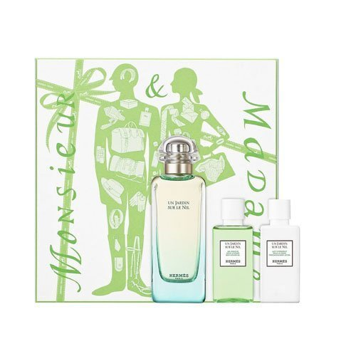 40 Ml Edt (Hermes Un Jardin Sur Le Nil Gift Set 3.4oz (100ml) EDT + 1.4oz (40ml) Body Lotion + 1.4oz (40ml) Sho by Hermes)