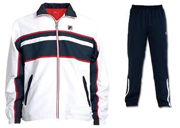 Fila Herren Tennis Trainingsanzug Jacke mit Hose Fila Team weiß ...