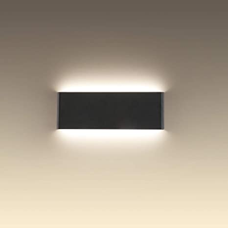 Joosenhouse 16 Inch Black Led Wall Lamps For Bedroom Indoor Hallway Modern Mini Bathroom Vanity Lights 14w 4000k Up And Down Bedside Reading Lamp Rustic Wall Sconces Amazon Com