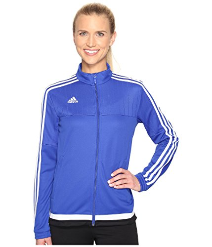 Womens Adidas Jersey Tiro - adidas Women's Tiro 15 Training Jacket, Bold Blue/White/Black, X-Small