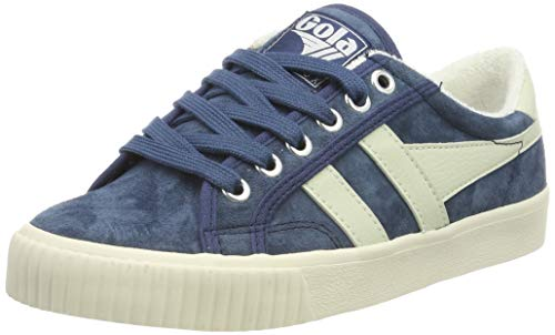 Gola Women's Tennis Mark COX Suede Trainers Grey (Baltic/O.Wht Ex) 8 (41 ()