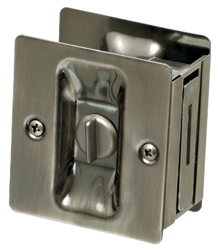 National Hardware V1951 Pocket Door Latch, Pewter
