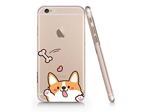the latest 30116 068d8 Cute Corgi Dog Slim Transparent iPhone 6 6s Case, Clear iPhone Hard Cover  Case for Apple iPhone 6 6s Emerishop (VAE257.6sl)