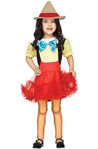 Fun World Toddler' Wooden Girl Costume, Multi, Small
