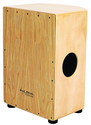 Tycoon Percussion 35 Roundback Series Cajon With North American Ash Front Panel