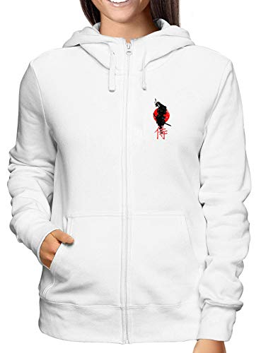 T0828 Samurai Military Bianca shirtshock Felpa Donna Zip T nqwvHR1Xx