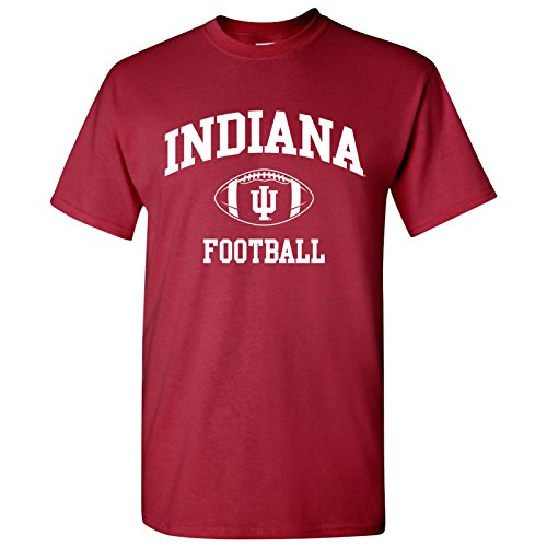 Football Cardinals T-shirt Red (UGP Campus Apparel AS10 - Indiana Hoosiers Classic Football Arch Mens T-Shirt - Medium - Cardinal Red)