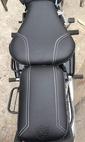 Incredible Saharaseats Royal Enfield Classic 350 And 500 Design Seat Cover Black Evergreenethics Interior Chair Design Evergreenethicsorg