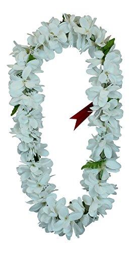 Hawaii Luau Party Artificial Fabric Plumeria Lei White (The Hangover Costume)