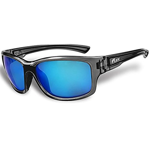 Flux Polarized Sports Sunglasses with Anti-Slip Function and Light Frame - for Men and Women when Driving, Running, Baseball, Golf, Casual Sports and Activities: - Ski Sunglasses Ladies