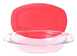 Pyrex Easy Grab 1.3 Quart Glass Oval Bakeware Dish