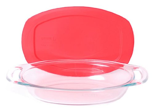 Pyrex Easy Grab 1.3 Quart Glass Oval Bakeware Dish World Kitchen (PA) 1091121