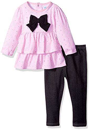 2 Piece Dress and Jegging Set, Subtle Pink, 24 Months (Subtle Set)