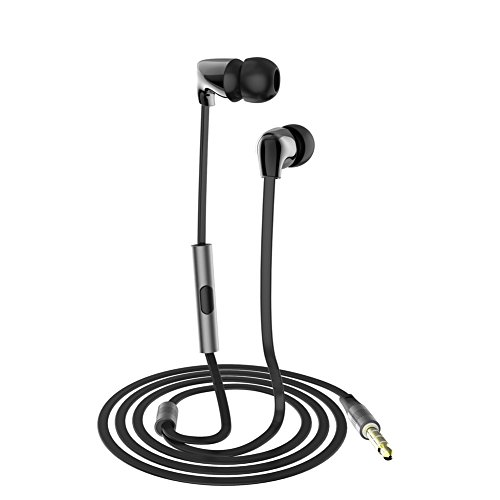 CBAOOO in-Ear Earbud Headphones Noise-isolating Headphones,Stero Sound and Ceramic Shell, Sweatproof Sport Headseat with Microphones for iPhone iPod iPad Samsung Nexus HTC MP3 MP4 etc ()