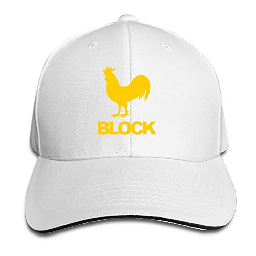 Peaked hat Cock Block Printed Sandwich Baseball Cap for Unisex Adjustable Hat -