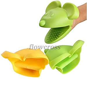 FW1S Lovely Kitchen Cooking Mouse Insulated Non-slip Gloves Microwave Oven No-slip Mitt