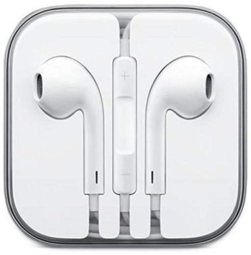 Earphone Headphone With Remote & Mic For iPhone 5 5G and other Mobile Phones- White