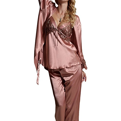 Amybria - Pijama - para mujer Rosa
