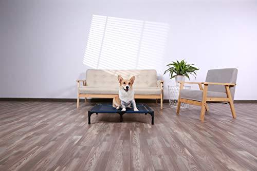 41EUjdudBRL ANWA Erhöhtes Hundebett für Garten draußen, Hundeliege Outdoor Grosse Hunde, Hundebett für große Hunde höhe in 20cm BLAU