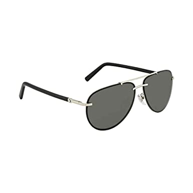 38c0c05607c Image Unavailable. Image not available for. Color  Montblanc Aviator  Sunglasses - MB596S-F 16A - Silver Black