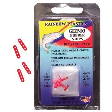 Rainbow BS-4-12 Slip-Eze Bobber Stop with Bead, 2-12-Pound, Test Line