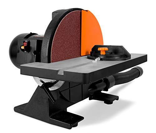 WEN 65812 12-Inch Benchtop Disc Sander with Miter Gauge and Dust Collection System