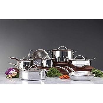 Kirkland Signature Stainless Steel TriPly Clad Cookware Set 13 Piece
