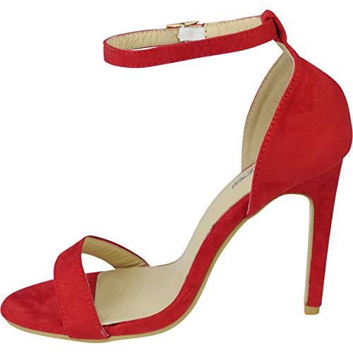 e78c74584432e3 Bout Fille Escarpin Frange Haut Femmes Aiguille Bemeesh Chaussures Cheville  Rouge Ouvert Talon Sandales SO1vWpOxR