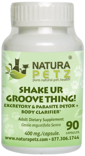 Natura Petz Shake Ur Groove Thing Excretory and Parasite Detox and Body Clarifier and Digestive Support for Adult Pets, 90 Capsules, 400mg Per Capsule by Natura Petz