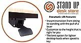 Pneumatic Adjustable Height Laptop Desk Cart