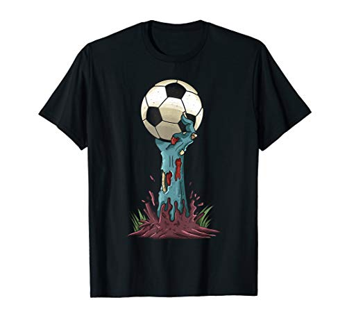 Girl Soccer Player Costume (Zombie Hands Soccer Funny Horror Scary Halloween Costume)