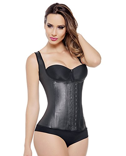 Ann Michell Waist Trainer - Black Latex Vest Large 38