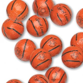 Chocolate Foil Basketballs - 1 lb by Madelaine Chocolate Company