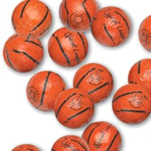 Chocolate Foil Basketballs - 1 lb