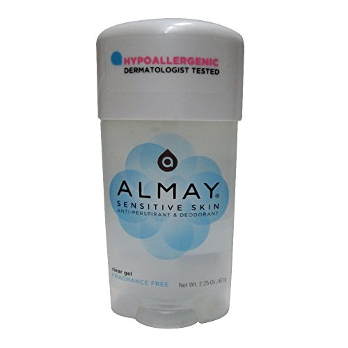 Almay Clear Gel, Anti-Perspirant and Deodorant, Fragrance Free, 2.25-Ounce Stick (Pack of 3)