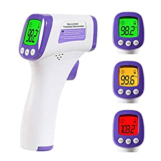 Thermometer for Adults and Kids, Thermometers for Humans Forehead, Infrared Thermometer, Touchless, Digital and Accurate Fast Readings Without Battery
