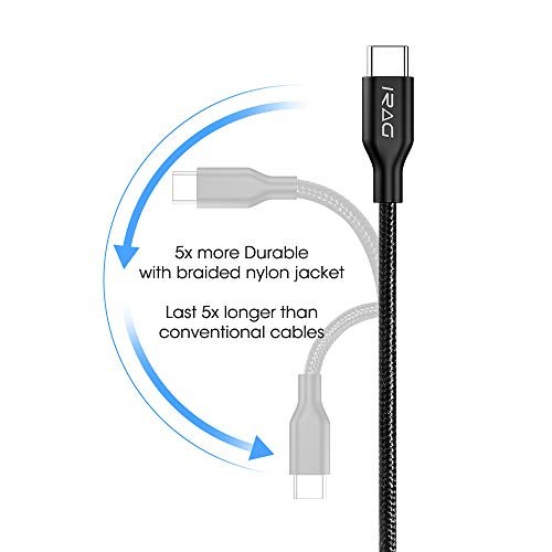 iRAG Car Charger Compatible for Google Pixel/Pixel XL/2/2XL/3/3XL/3A/3A XL/4-36W PD 3.0 and Quick Charge 3.0 2-Port USB Adapter with Braided 6ft USB Type C to C Fast Charging Cable Cord