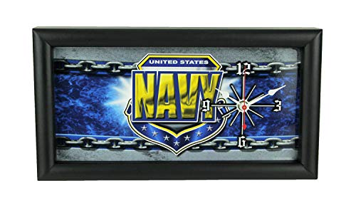 Good Tymes Enterprises, Inc. US Navy Military License Plate Mantel or Wall Clock