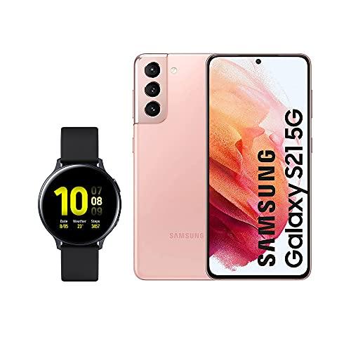 SAMSUNG Smartphone S21 5G 128 GB Rosa con Watch Active 2