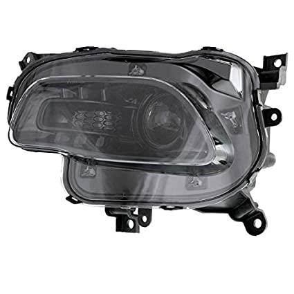 Halogen Headlight Assembly Black w//Bulb Left Driver Side for 14-17 Jeep Cherokee