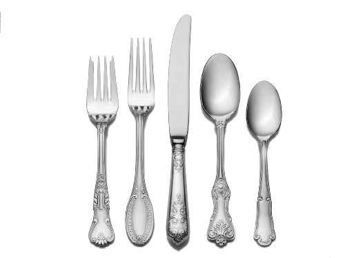 Stainless Flatware Set - Wallace Hotel 77-Piece Stainless Steel Flatware Set, Service for 12