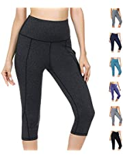 Women Yoga Leggings High Waist Tummy Control Pockets Workout Running Tights Training Pants Casual Trousers