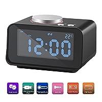 SROCKER Alarm Clock FM Radio, Dual USB C...