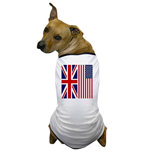 [CafePress - America and Briritain flags Dog T-Shirt - Dog T-Shirt, Pet Clothing, Funny Dog Costume] (Britain Costume Ideas)