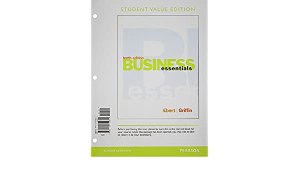 Amazon business essentials student value edition plus 2014 business essentials student value edition plus 2014 mybizlab with pearson etext access card package 10th edition 9780133879131 ronald j ebert fandeluxe Image collections