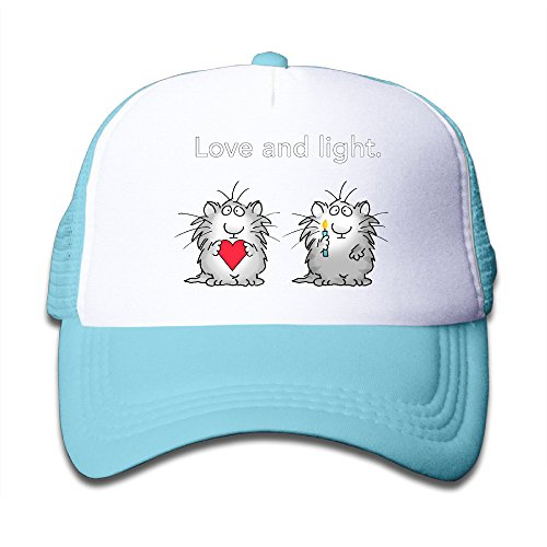Henzhudi Love And Light Unisex Grid Baseball Caps Adjustable Nice Icon Baseball Cap Customize Skyblue