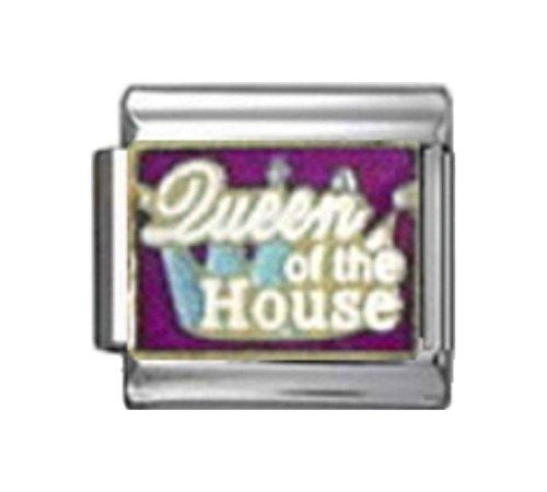 Stylysh Charms Queen The House Enamel Italian 9mm Link NC136 - House 9mm Italian Charm